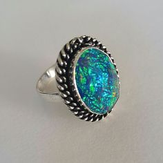 Vintage Handmade Fancy Dichroic Glass Ring