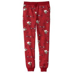 Boys 8-20 Hollywood Jeans Christmas Fleece Jogger Pants, Size: Xl(18/20), Red Other