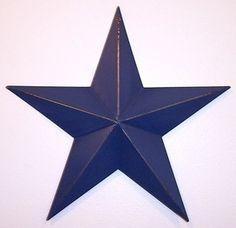 12 inch Navy Blue Metal Barn Star
