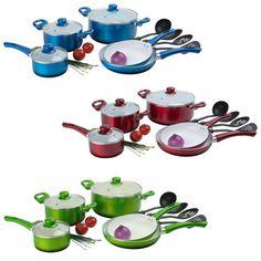 Ceramic Non-stick 12-piece Cookware Set