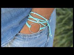 Boho Infinity Circle Charm Triple Wrap Bracelet - Step by Step DIY Tutorial How to Size - # 332 - YouTube