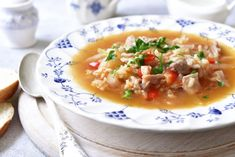 Chicken soup with cabbage and rice Ingredients: chicken thighs 1 onion 1 carrot 2 tomatoes 300 g cabbage tbsp. l rice salt and pepper to taste 2 Chicken Rice Soup, Sweet Cocktails, Rice Ingredients, Cabbage Soup, Easy Food To Make, Healthy Treats, Dog Food Recipes, Cool Things To Buy, Netflix Gift