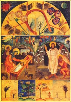 goncharova icon painting motifs 1912