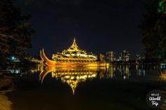 Yangon bei Nacht