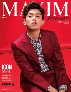 Solo artist Eric Nam is featured on the cover of 'Maxim femme's June issue, and he's looking red hot! The devilishly handsome singer takes on a much sexier vibe on the cover of the magazine, absolutely oozing confidence and charisma. Korean Celebrities, Korean Actors, Eddy Kim, How To Speak Chinese, Maxim Magazine, Korean American, Boy Images, Eric Nam, Korean Entertainment