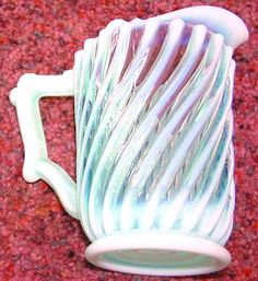 Beatty glass co. | BEATTY GLASS CO BEATTY SWIRL-BLUE OPALESCENT at Replacements, Ltd
