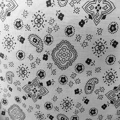 "Poly Cotton Print Bandana 60"" Inch Fabric by the Yard Cloth & Sewing White Print #Fabric"