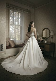 You will make a grandiose entrance in this satin and beaded ballgown - Style #8680 I http://www.weddingwire.com/wedding-photos/i/romantic-modern-style-classic-white-ivory-dress-waist-natural-dress-sleeveless-dress-price-1501-to-3000-ball-gown-strapless-sweetheart-satin-floor-beading-dress-accents-sash-belt-justin-alexander/i/61a4ef4fbfd53b7c-dafb754575744920/46e7a5a14742c6f4?cat=dresses&tags=ball-gown&page=2&type=search