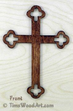 Budded Cross, Baltic Birch Wood Cross , for Wall Hanging or Ornament, Item S4-10