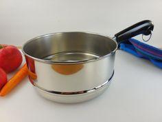 revere ware double boiler insert for 2 u0026 3 quart saucepans pots vintage stainless cookware