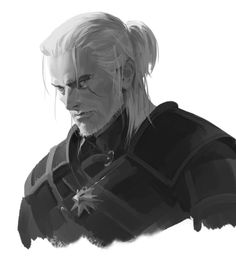 ArtStation - Geralt of Rivia, areum Jeong Witcher 3 Art, The Witcher Game, The Witcher Wild Hunt, The Witcher Geralt, Ciri, Character Inspiration, Character Art, The Withcer, White Wolf