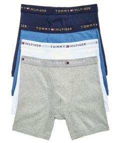 Tommy Hilfiger Men's 4-Pack. Cotton Boxer Briefs - Orange XL