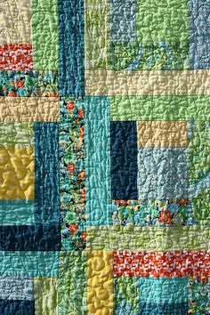 Log Cabin Baby quilting
