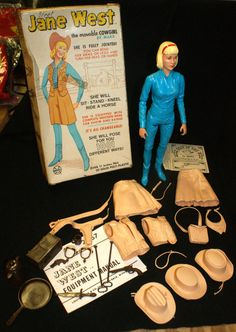 1965 Jane West Movable Cowgirl Louis Marx Toys by jfike7 on Etsy, $29.99