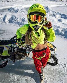 Girls on bike (motorcycle) girls biker Dirt Bike Girl, Girl Bike, 3008 Peugeot, Peugeot 206, Motorbikes Women, Motocross Girls, Motorcycle Girls, Moto Bike, Dirtbikes