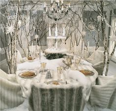 Ideas Party Garden Winter Table Settings For 2019 Winter Wonderland Christmas, Winter Wonderland Wedding, White Christmas, Xmas, Christmas Coffee, Prim Christmas, Christmas Candles, Modern Christmas, Scandinavian Christmas