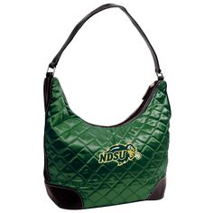 North Dakota State Bison NCAA Quilted Hobo (Dark Green)