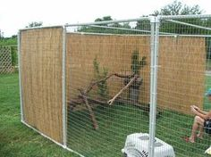 Easy DIY Cat / Bird / Dog Enclosure. This is great for Ratchet (my bearded dragon)