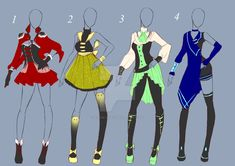 Auction: clothes design(closed) by kyone-kuaci on deviantart Fashion Design Drawings, Fashion Sketches, Character Outfits, Character Art, Anime Outfits, Cool Outfits, Harry Potter, Clothing Sketches, Anime Dress
