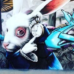 Nothing like Street Art! #Dope #StreetArt #Artist #Rabbit #GraffitiArtist #Graphic #Saturday #GraffitiArt #PhotoOfTheDay #Artist #artwork