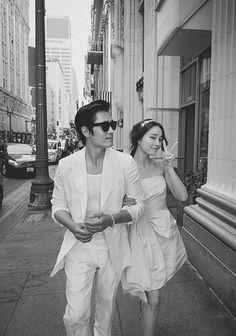 Lee Byung Hun & Lee Min Jung unofficial wedding pictorial bts ||