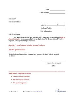 Cease and desist letter template business forms pinterest letter of credit example spiritdancerdesigns Gallery