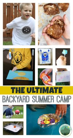 Such an easy way to entertain the kids this summer!! 42 arts and crafts, science experiments, outdoor games... Even includes printable camp t-shirt transfers and banners.