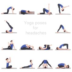 Yoga Poses for Migraine Headaches -See more poses and benefits @ qnaforum.co.in