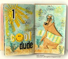 Kath's Blog......diary of the everyday life of a crafter: My Favourite Makes from 2020 Travel Collage, Tim Holtz Dies, Simon Says Stamp Blog, Art Journal Pages, Art Journals, Distressed Painting, Card Maker, Watercolor Cards, Paper Crafts