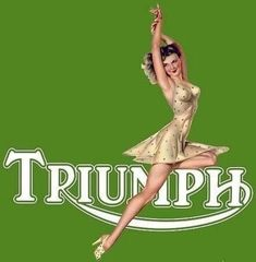 triumph pin up girl Triumph Cafe Racer, Triumph Motorcycles, Indian Motorcycles, British Motorcycles, Vintage Motorcycles, Motorcycle Posters, Motorcycle Art, Motorcycle Girls, Buy Classic Cars