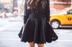 all black & a lacy skirt