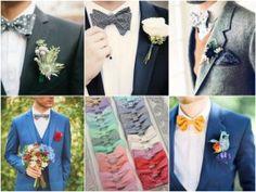 gravata borboleta estampada terno escuro casamento noivo