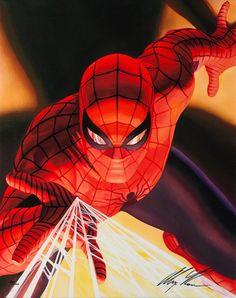 Marvel Visons: Spider-Man Signed by Alex Ross #Canvas