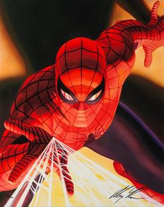 Marvel Visons: Spider-Man Signed by Alex Ross #Canvas