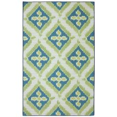 Anchor your patio seating group or define space in the den with this artfully woven indoor/outdoor rug, showcasing a diamond trellis motif for eye-catching a...