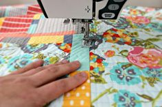 THIS IS THE METHOD!!!!  CHECK IT OUT!!   quilt both sides of the seams by maureencracknell, via Flickr
