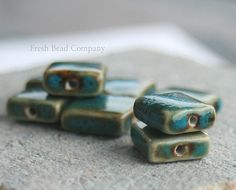 12 mm Beads Ceramic Beads 3Square Beads 12 mm by FreshBeadsCo, $1.95