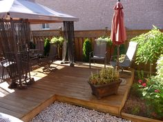 Small deck but functional