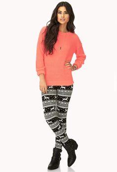 Adorable winter leggings #ForeverHoliday @Forever 21