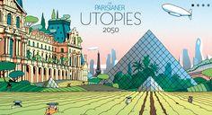 Des #illustrateurs de The Parisianer présentent Utopies 2050 au Quai d'Orsay, ou l'avenir de #Paris dans 35 ans. En savoir plus sur le blog... #TheParisianer #Utopies2050 #patrimoine