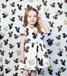 Squirrel dress by Double Yellow Line. http://www.doubleyellowline.ca/