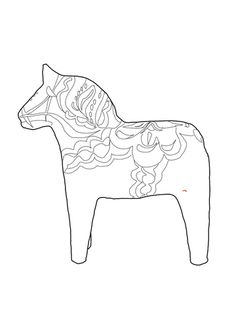 swedish dala horse coloring page from sweden category select from 24413 printable crafts of cartoons