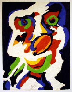 Karel Appel. 'Musicien', 1976. 65.0 x 50.0 cm (paper).