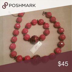 Necklace + Bracelet Nice Pink Set Necklace and Bracelet a.n.a Jewelry Necklaces