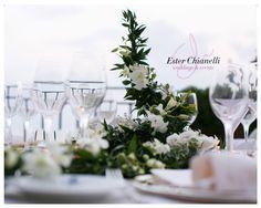 White&Green Centerpiece | Wedding By Ester Chianelli Wedding & Event Planner www.esterchianelli.com
