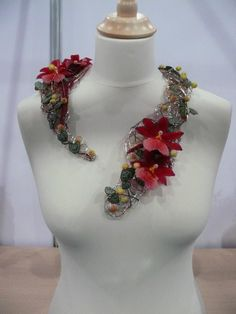 this is cool, I have done some thing similar brides for and  bridesmaids to wear.  The ultimate bridal jewelry. Great alternative corsage www.neighborhoodflorist.com