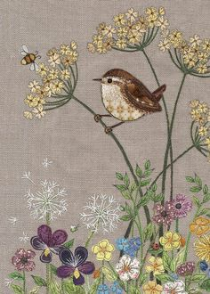 Awesome Most Popular Embroidery Patterns Ideas. Most Popular Embroidery Patterns Ideas. Motifs Applique Laine, Bird Applique, Free Motion Embroidery, Crewel Embroidery, Applique Quilts, Applique Ideas, Ribbon Embroidery, Freehand Machine Embroidery, Machine Embroidery Designs