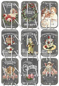 Christmas Chalkboard Santa Claus Cupcakes by NostalgieGrafikland