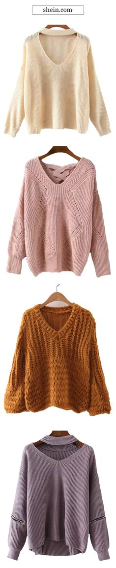 Cozy sweaters for women.