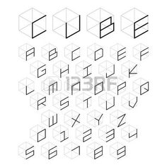 Find Cube Alphabet Number Vector Illustration stock images in HD and millions of other royalty-free stock photos, illustrations and vectors in the Shutterstock collection. Creative Lettering, Graffiti Lettering, Lettering Styles, Alphabet Design, Typography Alphabet, Typography Fonts, Monogramm Alphabet, Haut Tattoo, Geometric Font